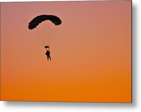 Sky Diving Metal Print featuring the photograph Sky Diving by Rich Tanguay