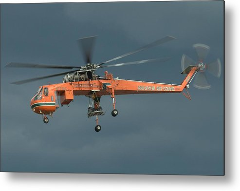 Sikorsky Metal Print featuring the photograph Skycrane by Jeff Cook