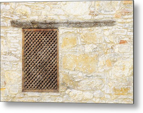 Window Metal Print featuring the painting Slatted Window by Sandy MacGowan