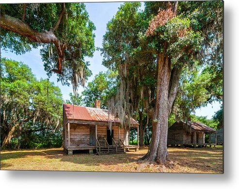 Evergreen Plantation Metal Print featuring the photograph Slave Quarters 2 by Steve Harrington