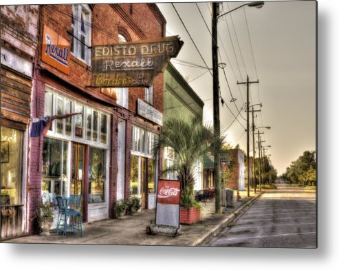 Small Town Metal Print featuring the photograph Small Town U. S. A. by Harry B Brown