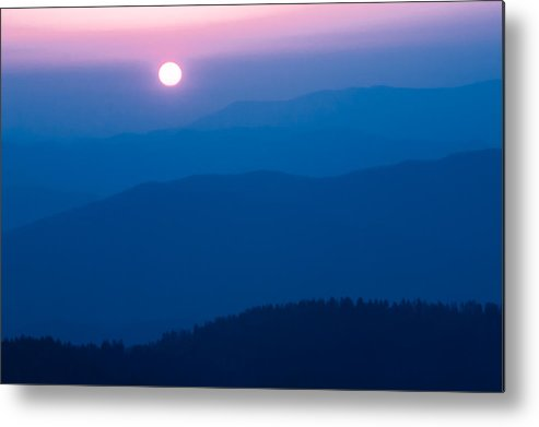 2005 Metal Print featuring the photograph Smoky Mountain Sunrise by Jay Stockhaus