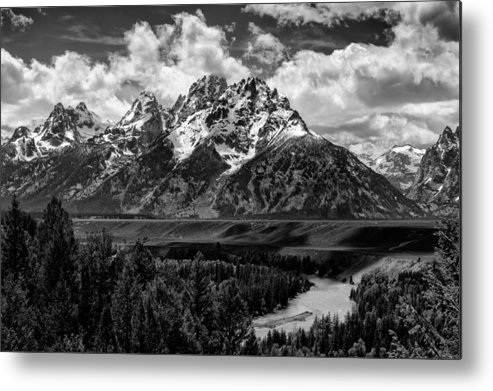 Grand Teton National Park Metal Print featuring the photograph Snake River Overlook by Kevin Reilly