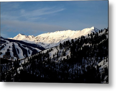 Colorado Photographs Photographs Metal Print featuring the photograph Snowmass Mountain - Wild Cat Ranch by Allen Carroll
