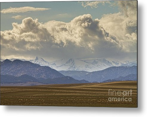 Rocky Mountains Metal Print featuring the photograph Snowy Rocky Mountains County View by James BO Insogna
