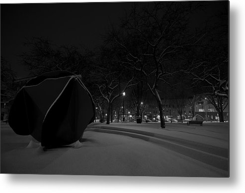 Burlington Metal Print featuring the photograph Snowy Sculpture by Mike Horvath