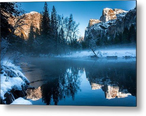 Yosemite Metal Print featuring the photograph Snowy Yosemite by Jeff Kershaw