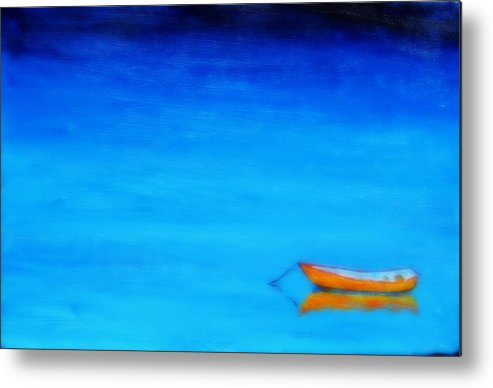 Boat At Rest Metal Print featuring the painting Solitude by Rob White
