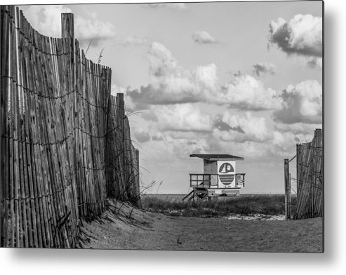Miami Metal Print featuring the photograph South Beach Lifeguard Shack by Mike Burgquist
