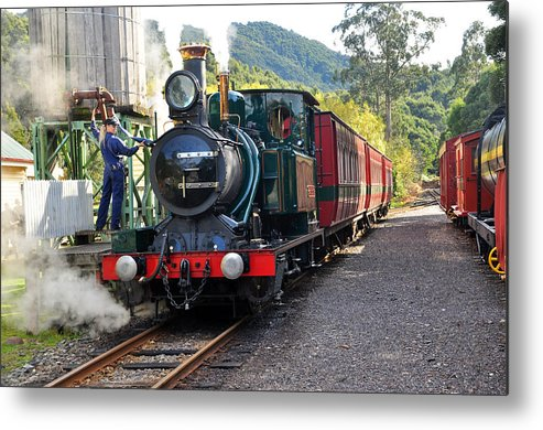 Landscape Metal Print featuring the photograph South West Wilderness Railway by Terry Everson