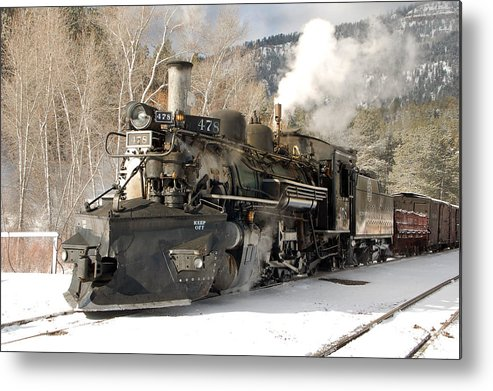 Steam Train Metal Print featuring the photograph Southbound Through Rockwood by Ken Smith