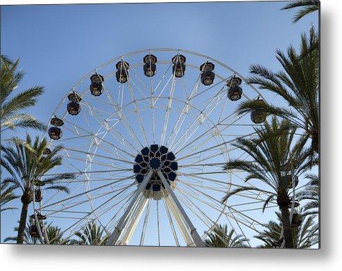 Orange Metal Print featuring the photograph Spectrum Center Ferris Wheel In Irvine by Carol M Highsmith