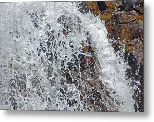 Water Metal Print featuring the photograph Splash by Christina Jo