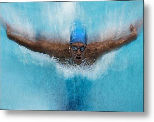 Swim Metal Print featuring the photograph Splash by Milan Malovrh