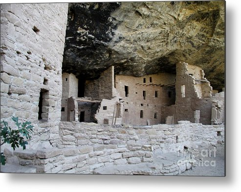 Spruce Tree House Metal Print featuring the photograph Spruce Tree House Archaeological Site by Christiane Schulze Art And Photography
