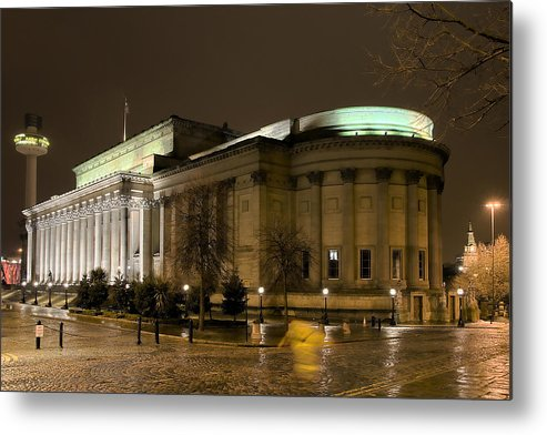 Liverpool Metal Print featuring the photograph St Georges Hall Liverpool by Jeff Dalton