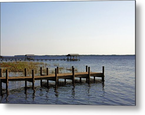 St Metal Print featuring the photograph St Johns River Florida - Walk This Way by Christine Till