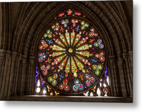 Stained Metal Print featuring the photograph Stained Glass Details by Jess Kraft
