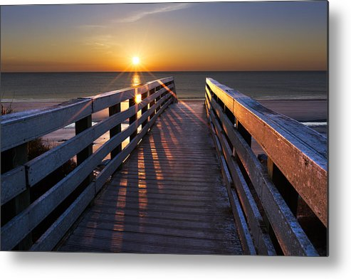 Clouds Metal Print featuring the photograph Stars On The Boardwalk by Debra and Dave Vanderlaan
