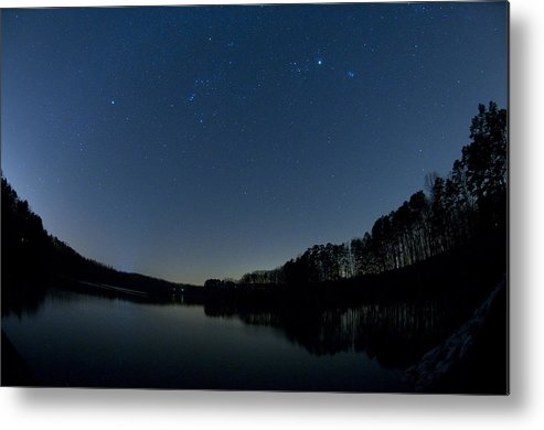 Trees Metal Print featuring the photograph Stars Over Lake Lucas by Eric Abernethy