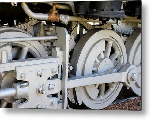 Vintage Metal Print featuring the photograph Steam Engine by Trent Mallett