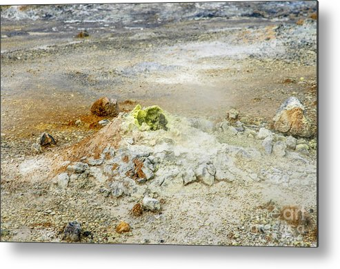 Asphalt Metal Print featuring the photograph Steaming Sulphur by Patricia Hofmeester