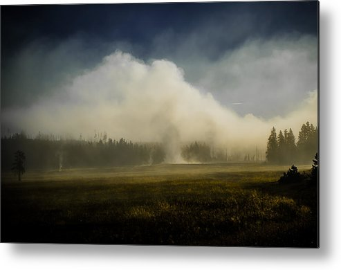 Yellowstone Metal Print featuring the photograph Steamy Morning by Kevin Spriggs