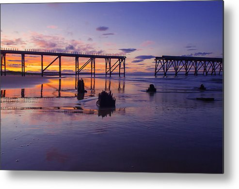 Metal Print featuring the photograph Steeley Pier by Anthony Melendrez
