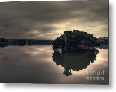 Shipwreck Metal Print featuring the photograph Stillness Speaks by Andrew Paranavitana