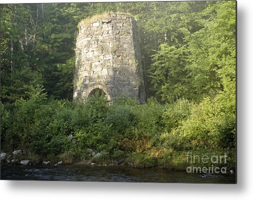 New England Metal Print featuring the photograph Stone Iron Furnace - Franconia New Hampshire by Erin Paul Donovan