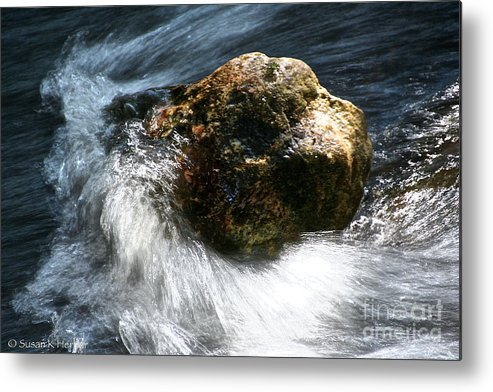 Water Metal Print featuring the photograph Stone by Susan Herber
