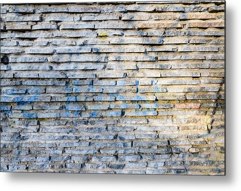 Backdrop Metal Print featuring the photograph Stone Wall Texture by Alain De Maximy