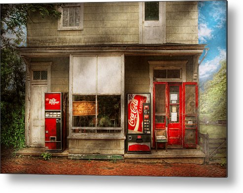 Savad Metal Print featuring the photograph Store Front - Waterford Va - Waterford Market by Mike Savad