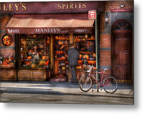 Manley Metal Print featuring the photograph Store - Wine - Ny - Chelsea - Wines And Spirits Est 1934 by Mike Savad