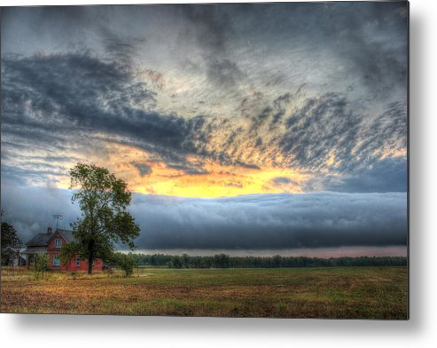 Roll Metal Print featuring the photograph Storm Rolling Through by Brook Burling