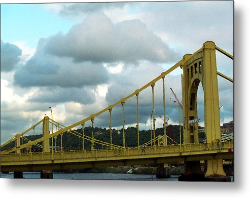 Allegheny Metal Print featuring the photograph Stormy Bridge by Frank Romeo