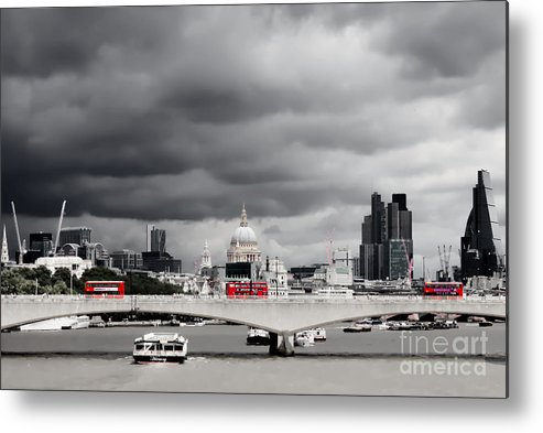England Metal Print featuring the photograph Stormy Skies Over London by Jeremy Hayden