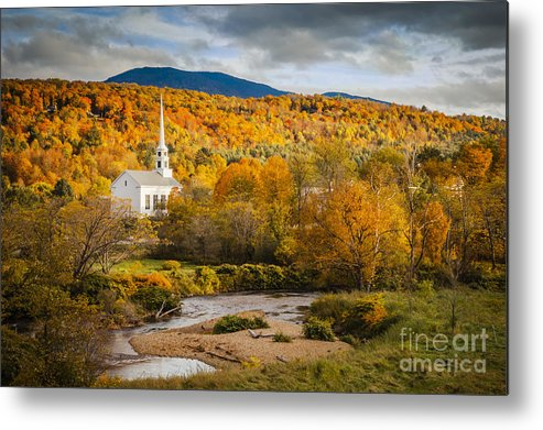 America Metal Print featuring the photograph Stowe Church At Sunset by Brian Jannsen