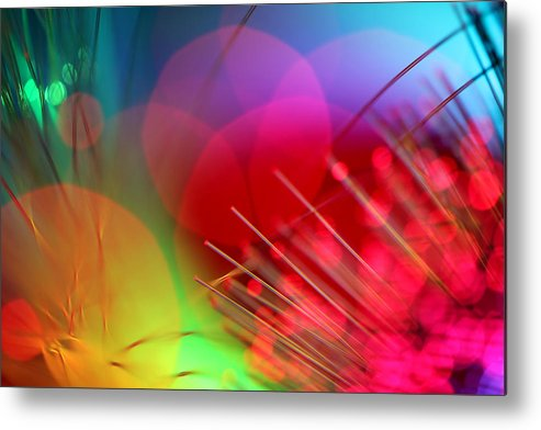 Abstract Metal Print featuring the photograph Strange Days by Dazzle Zazz