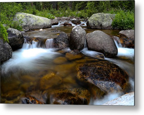Stream Metal Print featuring the photograph Stream Run 2 by Kevin Buffington