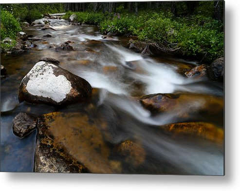 Stream Metal Print featuring the photograph Stream Run 3 by Kevin Buffington
