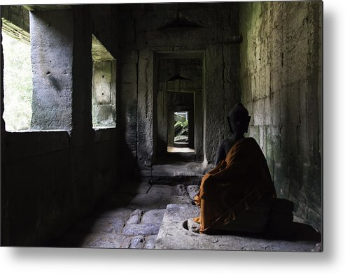 Cambodia Metal Print featuring the photograph Structures Cambodia Siem Reap 03 by Sentio Photography