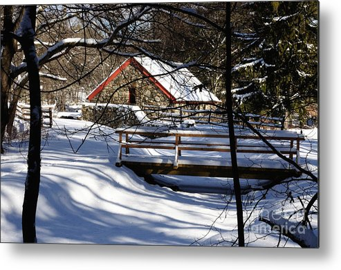 Sudbury Metal Print featuring the photograph Sudbury - Grist Mill In The Woods by Mark Valentine