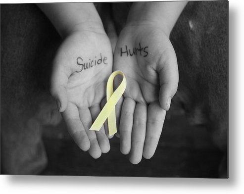Hands Metal Print featuring the photograph Suicide Hurts by Danielle Gareau