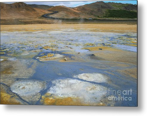 Bank Metal Print featuring the photograph Sulphur And Volcanic Earth by Patricia Hofmeester