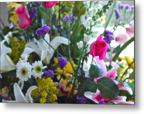 Floral Metal Print featuring the photograph Summer Bouquet by M West