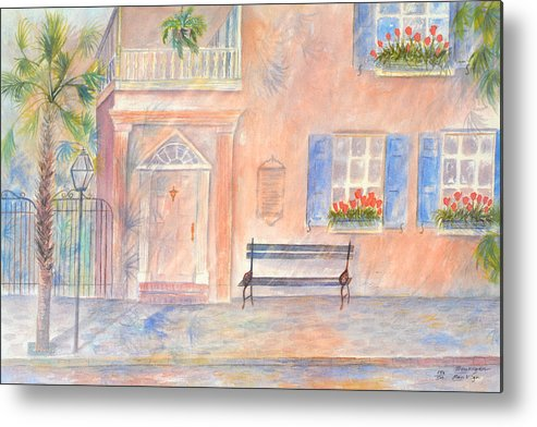 Charleston; Low Country; Palmetto Tree Metal Print featuring the painting Sunday Morning In Charleston by Ben Kiger