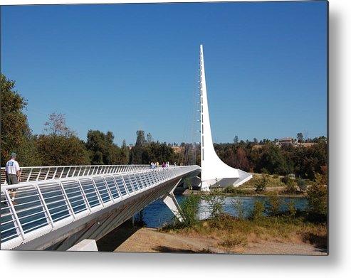 Bridge Metal Print featuring the photograph Sundial Bridge by Pat Follett