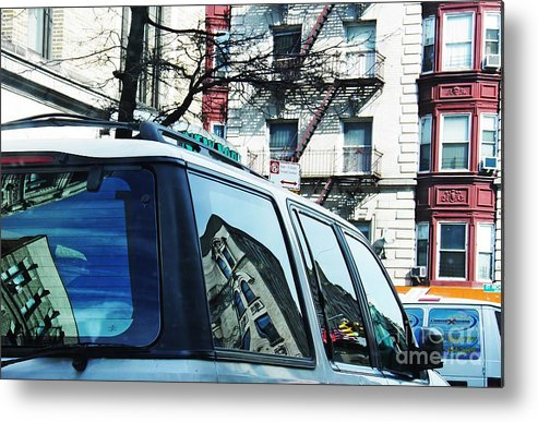 Buildings Metal Print featuring the photograph Sunny Day In Washington Heights by Sarah Loft