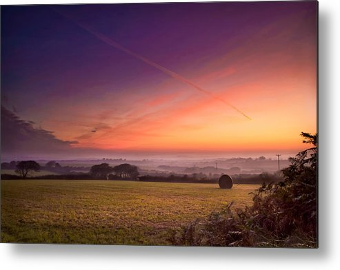 Landscape Metal Print featuring the photograph Sunrise Over Cornwall by Christine Smart